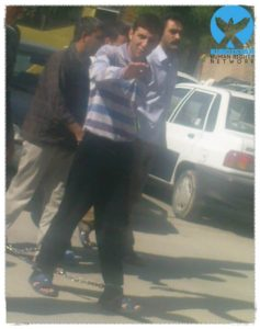 بهروز آلخانی در حین انتقال به دادگاه انقلاب ارومیه