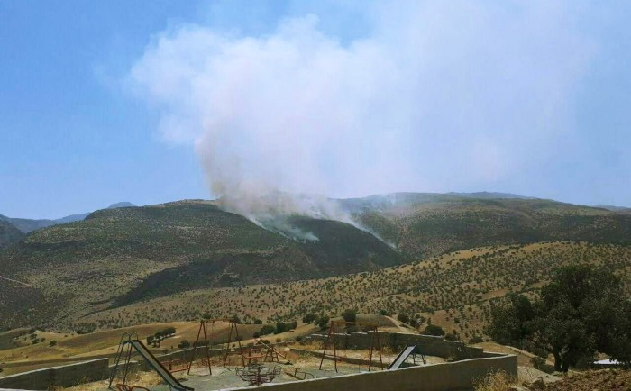 مانور سپاه پاسداران، آتش سوزی گسترده در کوهستان شاهو را در پی داشت