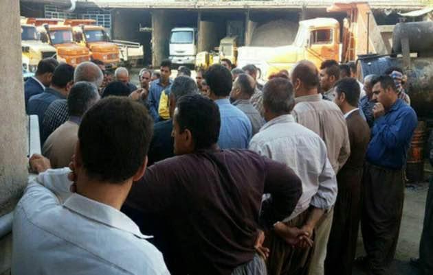 اعتصاب کارگران شهرداری سردشت