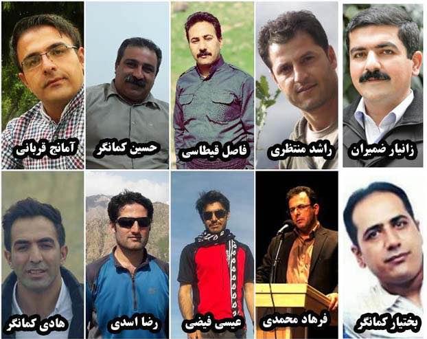 گزارش تحلیلی شبکه حقوق بشر کردستان درباره بازداشت جمعی ده فعال کُرد در کامیاران و سنندج