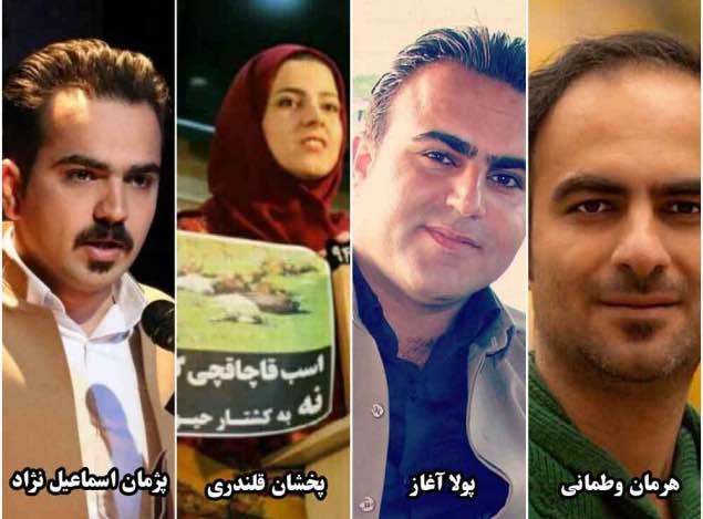 احضار و بازجویی ٦ فعال رسانهایی و زیست محیطي مهابادی توسط اداره اطلاعات این شهر